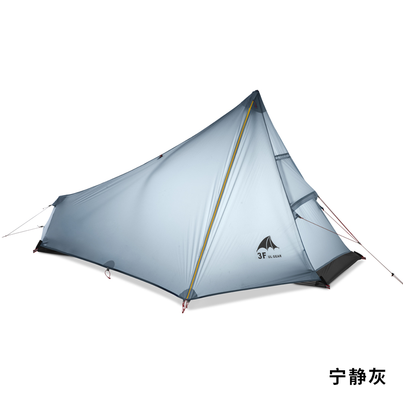 3F UL GEAR 740g Oudoor Ultralight Camping Tent 3 Season 1 Single Person Professional 15D Nylon Silicon Coating Rodless Tent 995g camping inner tent ultralight 3 4 person outdoor 20d nylon sides silicon coating rodless pyramid large tent campin 3 season