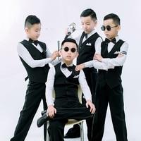 Original Latin Dance Tops For Children Black Color Height Quality Fabric Shirts Wears Classical Male Boy Ballroom Coats E011