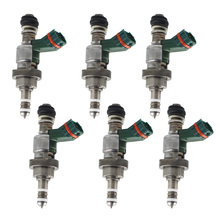 цена на New 6x Fuel Injectors For Lexus IS 250 IS250 GS300 23250-31020 Mark Brown