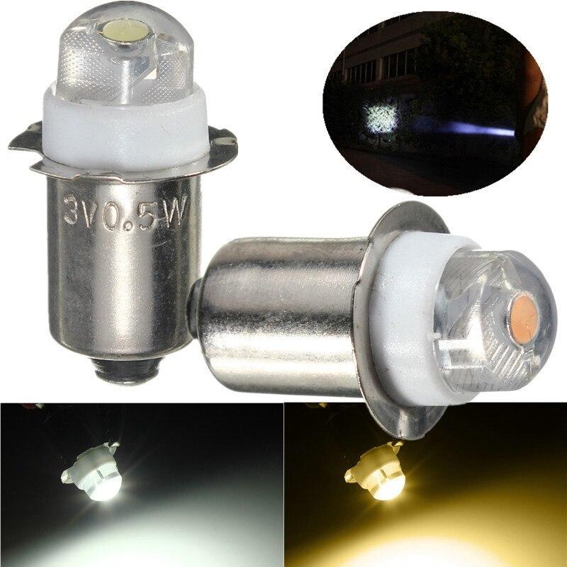 цена на 2x LED For Focus Flashlight Replacement Bulb P13.5S PR2 0.5W led Torches Work Light Lamp DC 3V 4.5V 6V Warm/Pure White