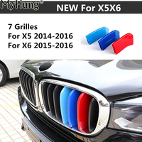 3D M Styling Front Grille Trim Motorsport Strips Grill Cover Performance Stickers For BMW X5 2014