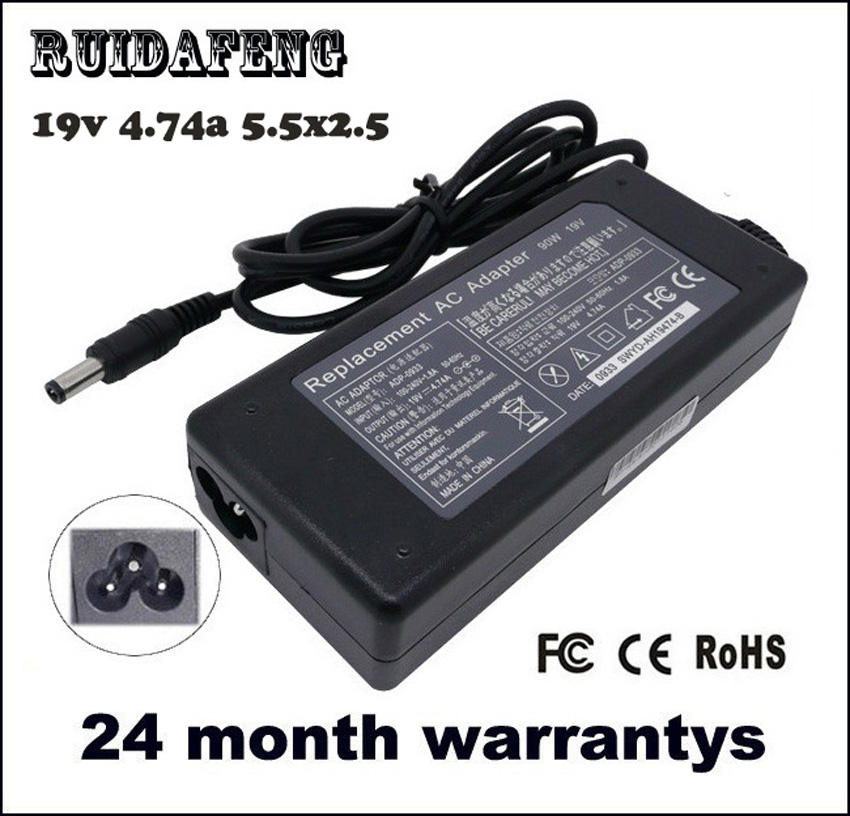 Voeding 19V 4.74A 5.5 * 2.5mm 90W notebook Laptop Wisselstroomadapter - Notebook accessoires