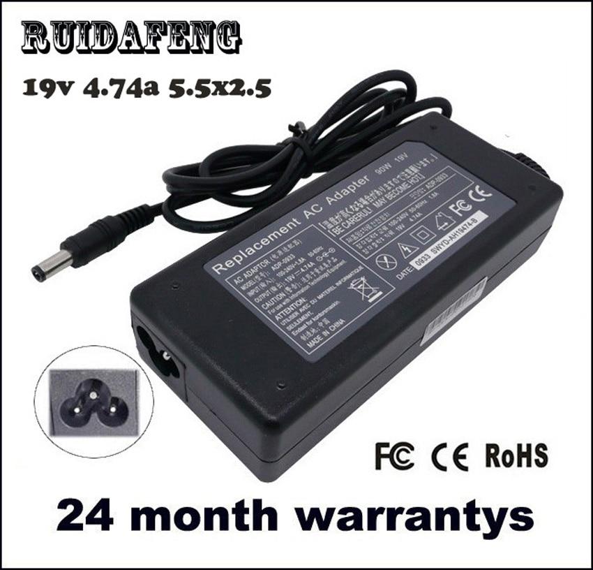 Bekalan Kuasa 19V 4.74A 5.5 * 2.5mm 90W Laptop Notebook Adapter AC - Aksesori komputer riba