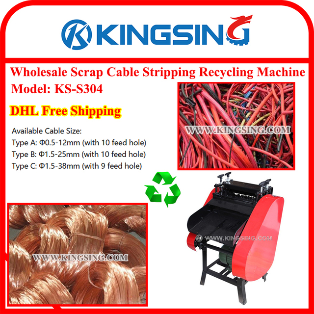 KS S304 Widely used scrap cable wire stripping machine + 100 ...