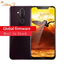 NOKIA X7 8 1 4GB pamięci RAM 64 ROM Snapdragon 710 2 2GHz Octa rdzeń 6 18 Cal FHD + pełny ekran android 9 4G smartphone LTE tanie tanio Nie odpinany Do 48 godzin 13MP Nowy 2246x1080 3500 Nonsupport Rozpoznawania linii papilarnych 2 karty SIM Typu C Smartfony