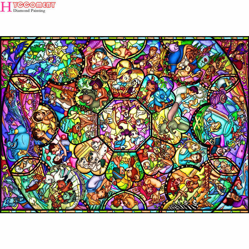 "Full Square/Round Drill 5D DIY Diamond Painting ""Cartoon princess"" Embroidery Cross Stitch Mosaic Home Decor Gift"
