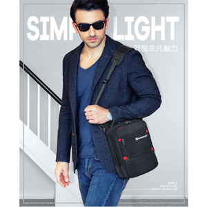 Image 5 - 2019 Swiss Fashion Shoulder Bag Men Mini Handbag Black Crossbody For Ipad Casual Oxford Messenger Satchel Music Bag Women