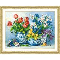 5d Diy Diamond Painting Flower Blue Flower Porcelain Basin Diamond Mosaic Home Bedroom Living Room Decoration
