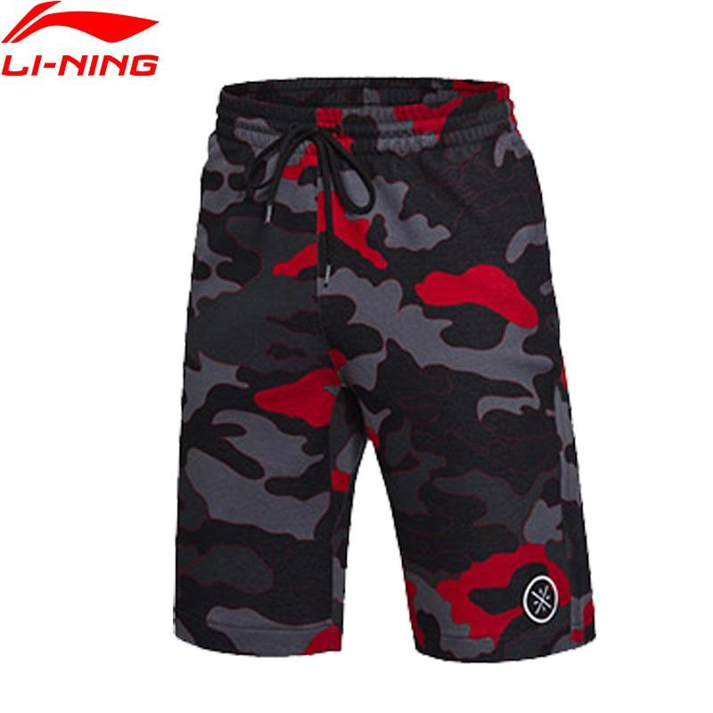 Li-Ning Men's Wade Performance Sweat Shorts 87%Cotton 13%Polyester Comfort Basketball LiNing Sports Shorts AKSM195 MTS2238