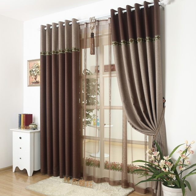 Online Shop 95% Blackout Thick Window Curtain Fabric For Bedroom ...