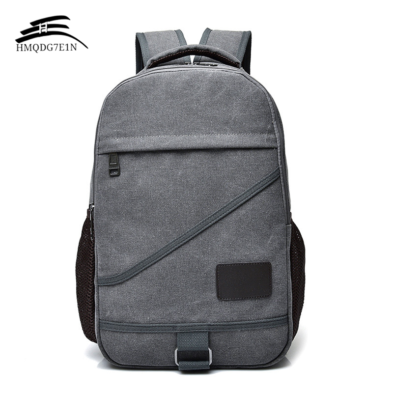 Large Capacity Men Backpacks Casual Canvas Computer Ipad Backpack Retro Travel College students School Bag chic canvas leather british europe student shopping retro school book college laptop everyday travel daily middle size backpack