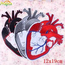 1PCS Heart Punk Patch Biker Rock Iron On Motorcycle Jacket Back Big Patches Cheap Embroidered Large Patches For Clothing Jeans(China)