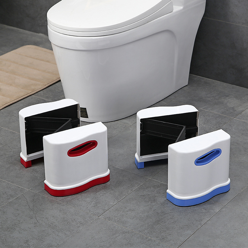 50% OFF Exclusive Adjustable Expandable Squatty Potty High Quality Foldable Plastic Toilet Stool Pad Footstool 44*23*20cm