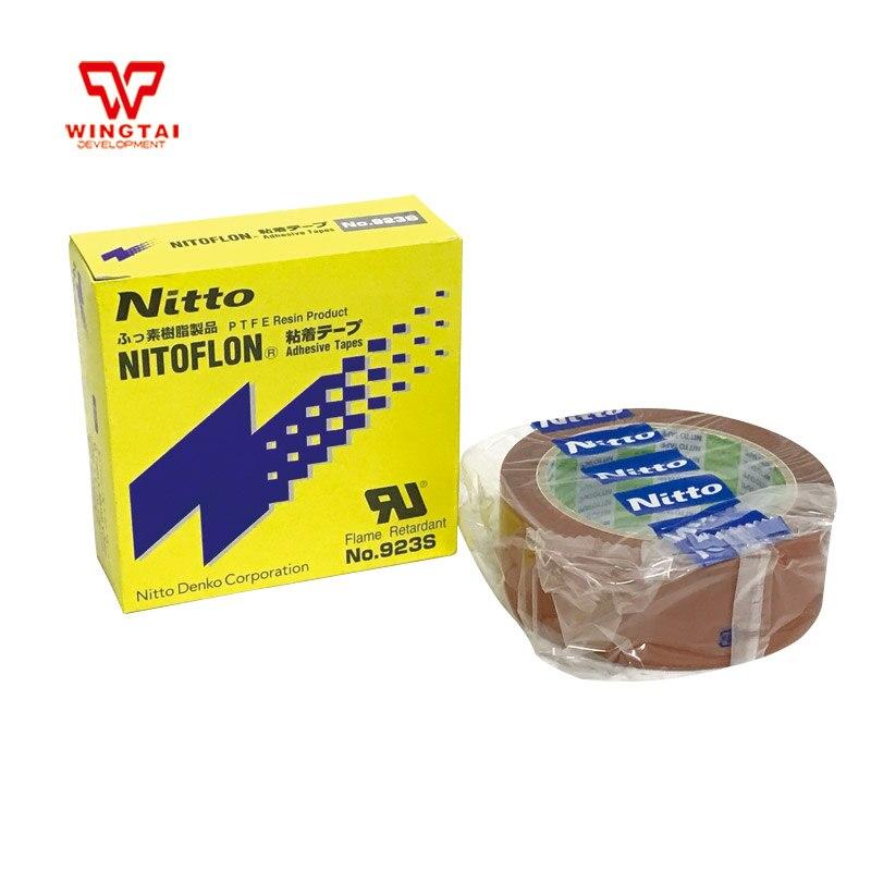 1 Pcs T0.10mm*W38mm*L33m NITTO DENKO 923S Nitoflon Heat Sealing Flame Retardant Adhesive Tape 3 pcs lot nitoflon adhesive tapes 923s t0 10mm w50mm l33m