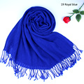 New Fashion Winter and Autumn Outdoor Tassel Scarf Shawl and Wrap Solid Color Unisex Women Men Warmer Scarves