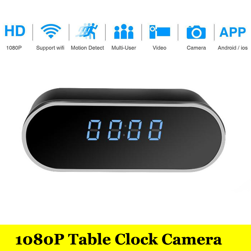 HD Home Security 1080P wifi IP Video Camera With Battery Electronic Clock P2P Motion Sensor Mini