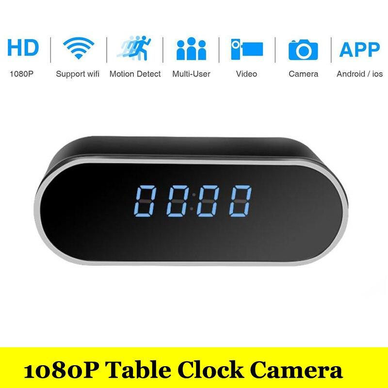 HD Home Security 1080 p wifi IP Caméra Vidéo Avec Batterie Électronique Horloge P2P Motion Sensor Mini IP Caméra Vidéo DVR Enregistreur