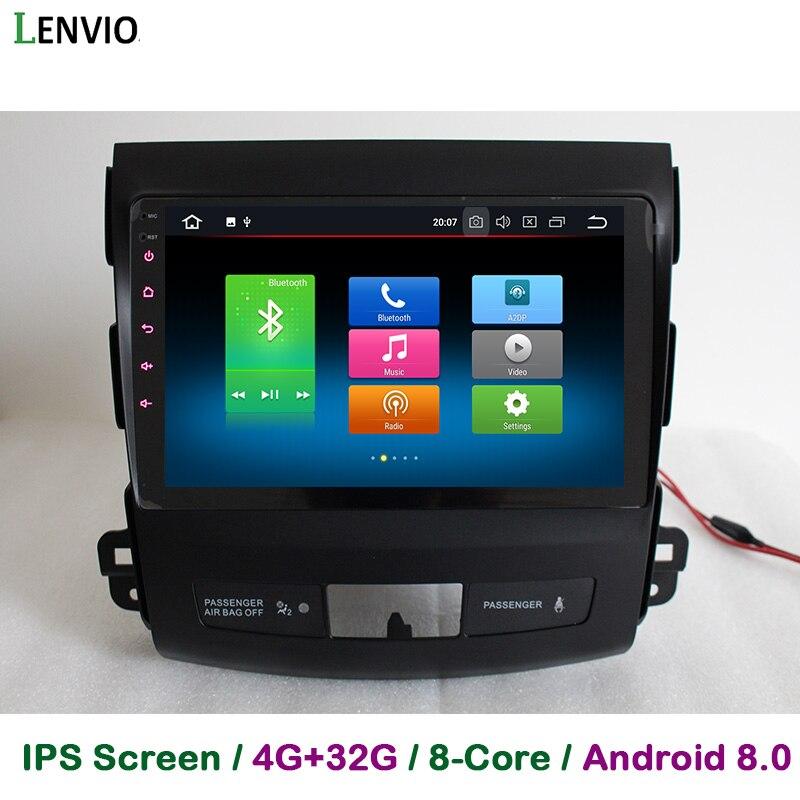 Lenvio ips 4 г Оперативная память 32 г Встроенная память Восьмиядерный Android 8,0 автомобиль DVD gps навигации плеер для Mitsubishi Outlander 2006 2007 2008 2009-2012