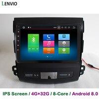 Lenvio ips 4G RAM 32G ROM Восьмиядерный Android 8,0 автомобиль DVD gps навигации плеер для Mitsubishi Outlander 2006 2007 2008 2009 2012