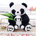 1pcs 25CM Sitting mother and son Panda Plush Toys bamboo Panda Dolls Soft Pillows kids baby birthday gifts Free Shipping