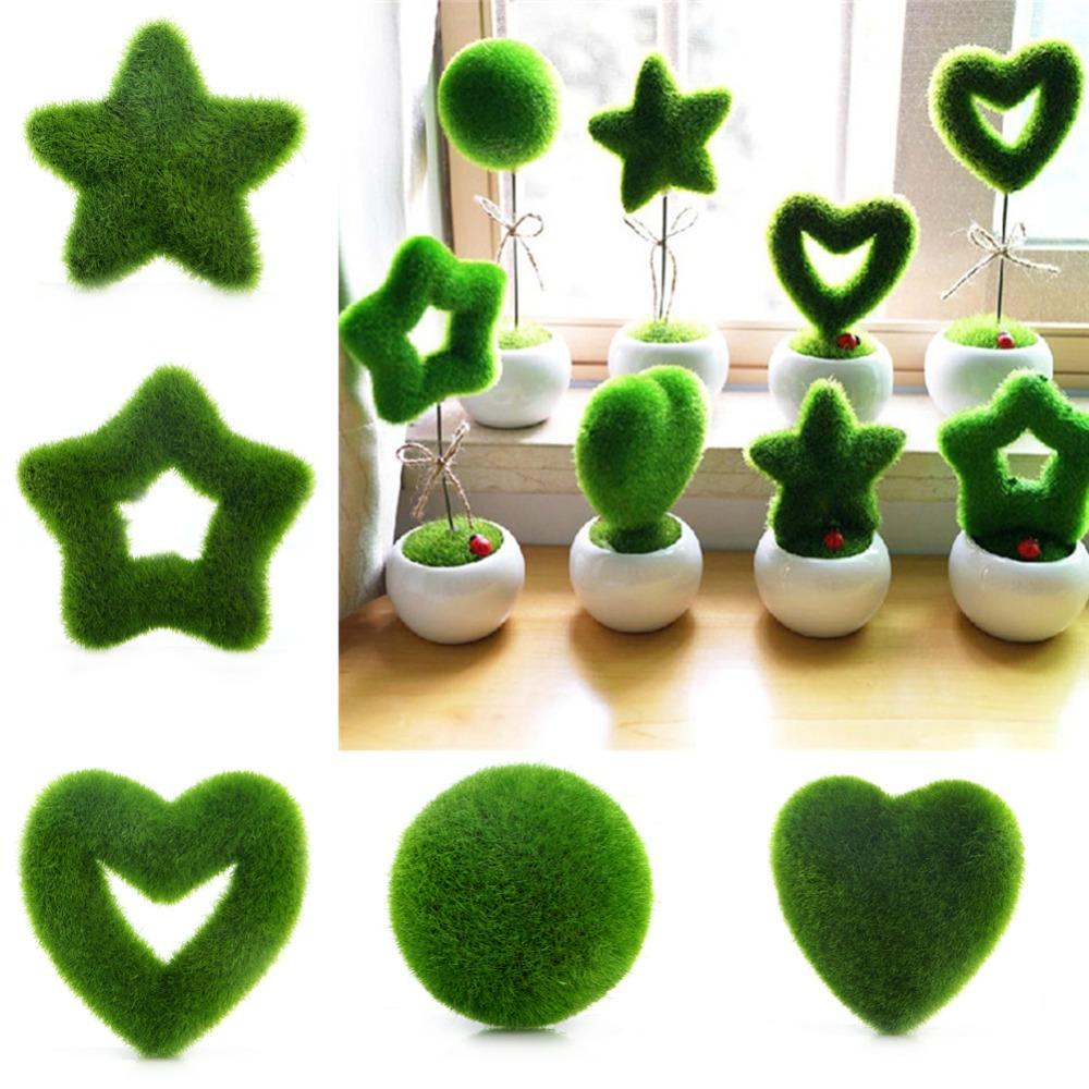 Hot sale fashion artificial fresh moss balls green plant for Artificial decoration
