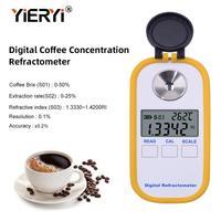 Yieryi цифровой кофе концентрации рефрактометр Брикса TDS coffee Brix 0 50 Brix и coffee TDS 0 25 Цифровой рефрактометр
