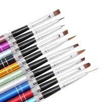 10pcs Nail Art Brush Set Tools Professional Painting Pen for False Tips UV Nail Gel Polish Painting Nail Brushes Tool