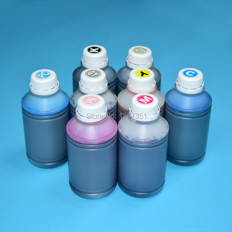 8 color 500ml UV dye printing ink for Canon CLI-42 refill ink cartridge for Canon PIXMA Pro-100 printer 8 colors for canon cli 42 refillable ink cartridge for canon pro 100 printer with chips