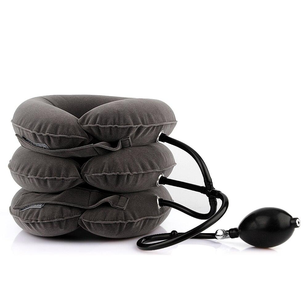 Gonflable Air Col de L'utérus Traction de Cou Cou De Massage Cou Épaule Soulagement de La Douleur des Muscles Du Cou Détendre Oreiller Cervical Masseur Brace