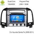 ROM 16G 1024*600 Quad Core Android 5.1.1 Fit Hyundai SANTA FE 2006-2010 2011 2012 Car DVD Player de Rádio de Navegação GPS TV 3G