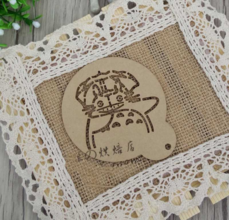 4pcs 3 inch my neighbor totoro cake stencil template biscuit.