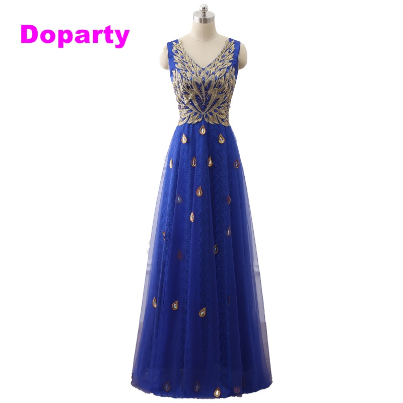Doparty XS2 Caftan Formal Elegante Largo Royal Blue Red Una línea de - Vestidos para ocasiones especiales