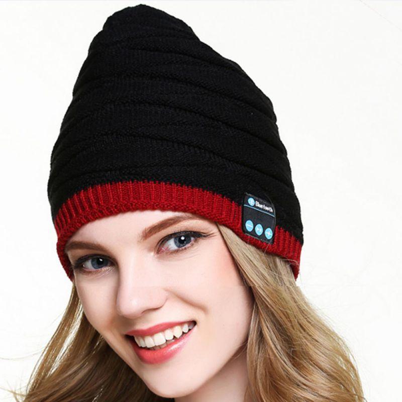 New Beanie Hat Cap Wireless Bluetooth Earphone Smart Headset headphone Speaker Mic Winter Outdoor Sport Stereo Music Hat k5