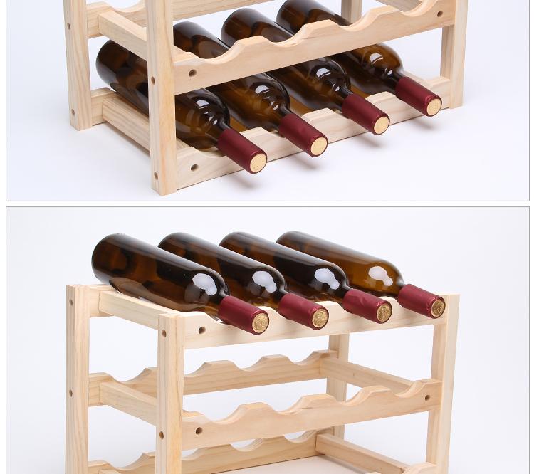 Bois 2 und 3 Flaschen Wein SET Boxen f/ür 1 Flasche Amazinggirl Bo/îte /à vin pliable en bois naturel /à peindre Bois naturel