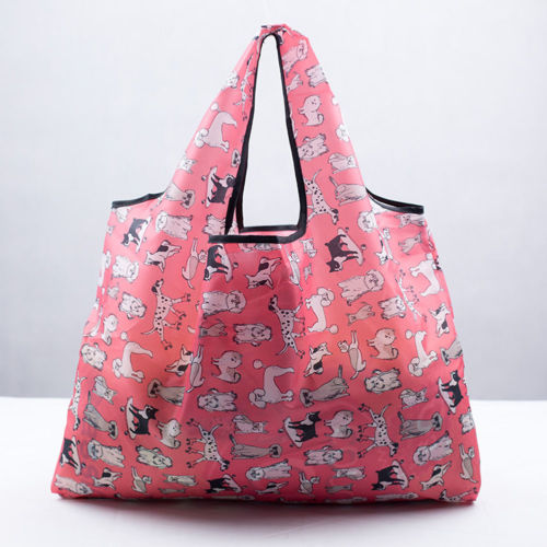 2019 Foldable Handy Shopping Bags Reusable Tote Pouch Recycle Storage Shopping Bags Oxford Eco Friendly Special Purpose Bags