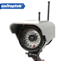 Solar Power Fake Camera Dummy Emulational Camera CCTV Camera Bullet Waterproof Outdoor Use For Home Security