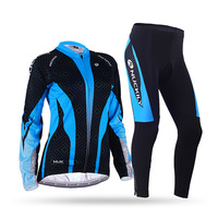 Winter womens Long sleeves Fleece Thermal Sublimation Cycling Jacket suit