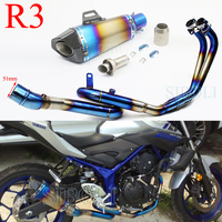 R3 R25 MT03 Motorcycle Slip On Exhaust Full System Akrapovic Muffler Header Pipe With Moveable DB Killer For YAMAHA MT 03 R3 R25
