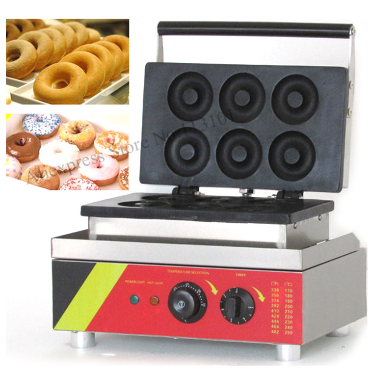 Donut machine stainless steel Donut grill machine donuts producer donuts machinery with 6pcs moulds 1pc donut maker doughnut maker small donut making machine stainless steel donuts producer with 6pcs moulds110v 220v