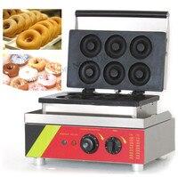 Mejor Máquina para rosquillas de acero inoxidable máquina para asar rosquillas fabricante de donuts maquinaria con 6 piezas de moldes