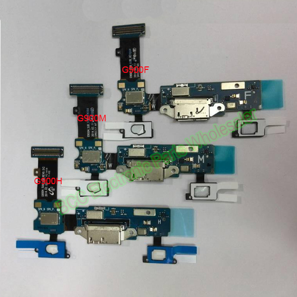 100% Original New For Samsung Galaxy S5 i9600 G900F/H/T/P/V/M G9008V USB Dock Charge  Charger Port Connector Flex Ribbon Cable