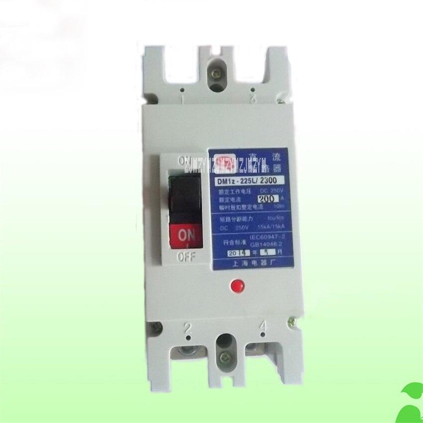 Bonne qualité DC moulé boîtier disjoncteur DM1Z-225/2 P 225A 160A 200A DC660V photovoltaïque commutateur d'air disjoncteurs offre spéciale