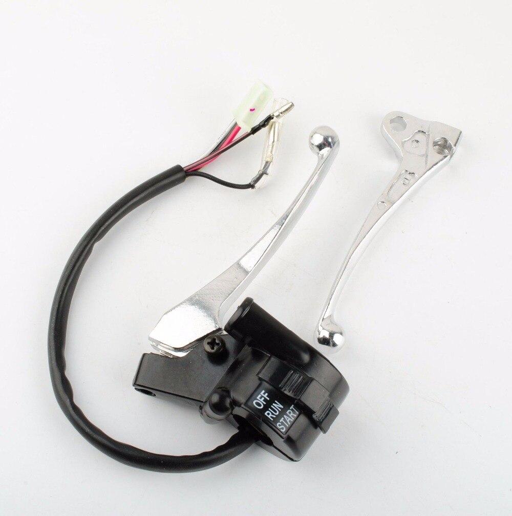 PW50 Throttle Housing Case Kill Switch Brake Lever For Yamaha 1981-2010 Y-Zinger  8z1499  цены