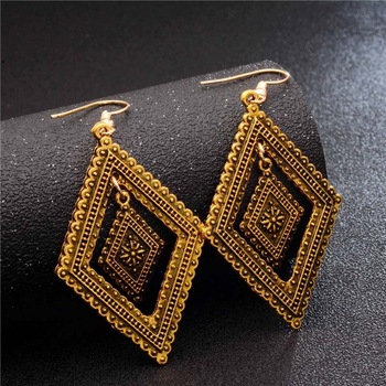 Fashion Metal Dangle Earrings Earrings Jewelry Women Jewelry Metal Color: GA725