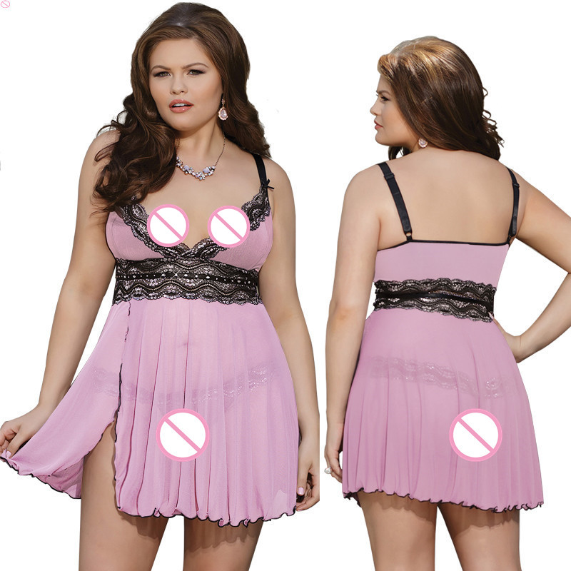M <font><b>6XL</b></font> <font><b>Sexy</b></font> <font><b>Lingerie</b></font> Babydoll Lace Dress Plus Size <font><b>Lingerie</b></font> <font><b>Sexy</b></font> Hot Erotic Underwear Baby Doll lenceria <font><b>Sexy</b></font> Costumes Sleepwear image