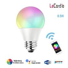 Smart Светодиодный лампы Wi-Fi RGB белый Функция времени затемнения светодиодный лампы 220 V 110 V Совместимость с Amazon Alexa/Google домашний помощник APP