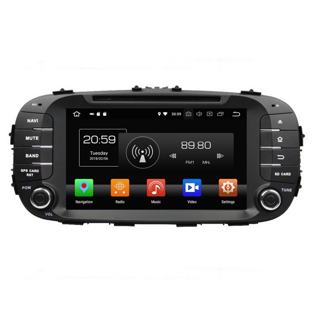 For Kia Soul 2014 2015 2016 2017 4GB RAM 8 Android 8 0 Car Radio DVD