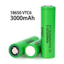 VariCore VTC6 3.7V 3000 mAh Lithium rechargeable Battery 18650 20A Discharge VC18650VTC6 Flashlight E-cigarette batteries 6pcs lot varicore vtc6 3 7v 3000mah 18650 li ion battery 20a discharge vc18650vtc6 tools e cigarette batteries diy line