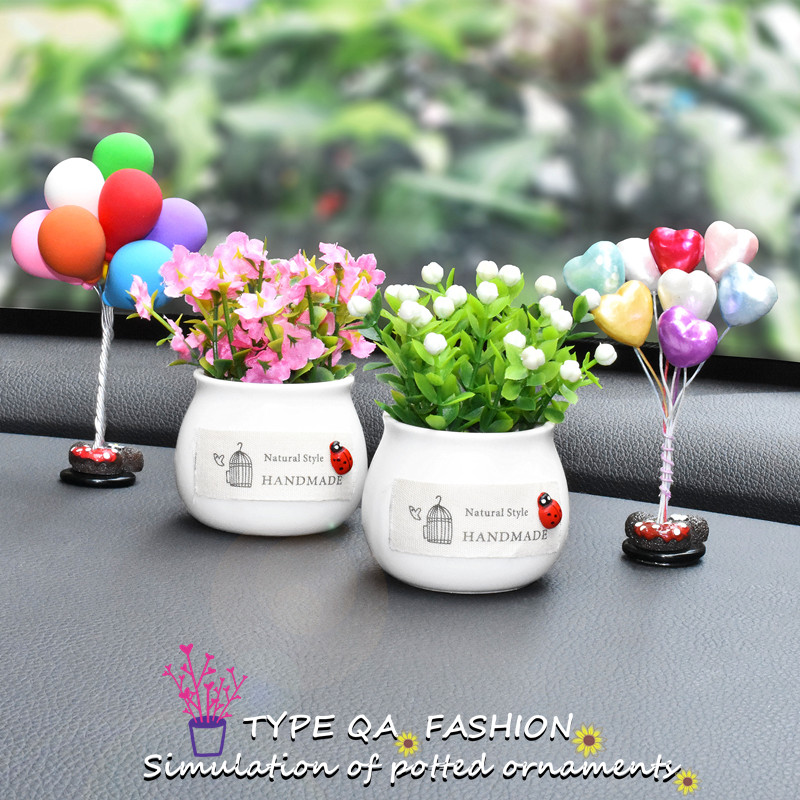1 Piece Car Styling Creative Potted Ornament Artificial Plants Dashboard Accessories Fragrance