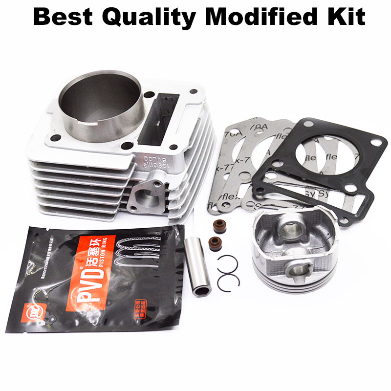 Motorcycle Cylinder Kit 57.4mm 65.5mm Big Bore For Yamaha YBR125 YBR 125 XTZ125 YB125Z YBR XTZ 125 Modified Engine motorcycle accessory ignition key set for yamaha ybr125 ybr 125 2002 2013